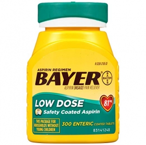 ihocon: Aspirin Regimen Bayer 81mg Enteric Coated Tablets | #1 Doctor Recommended Aspirin Brand | Pain Reliever |300 Count 阿司匹林(止痛藥)