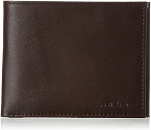 ihocon: Calvin Klein Men's RFID Blocking Leather Bifold Wallet 防資料竊取男士真皮皮夾