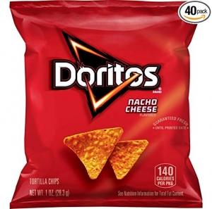 Doritos Nacho Cheese Flavored Tortilla Chips 40包 $10.81(原價$16.63)