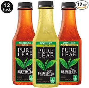 ihocon: Pure Leaf Iced Tea, 0 Calories Unsweetened Variety Pack, 18.5 fl oz. cans (12 Pack) 無糖冰茶