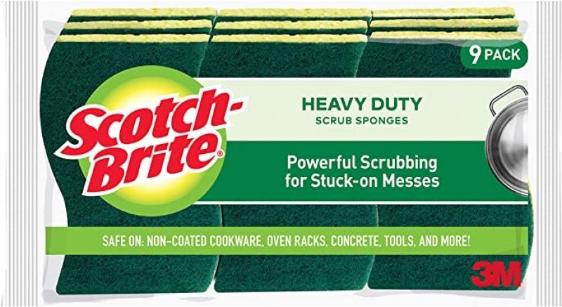 ihocon: Scotch-Brite Heavy Duty Scrub Sponges, 9 Scrub Sponges 清潔用海棉