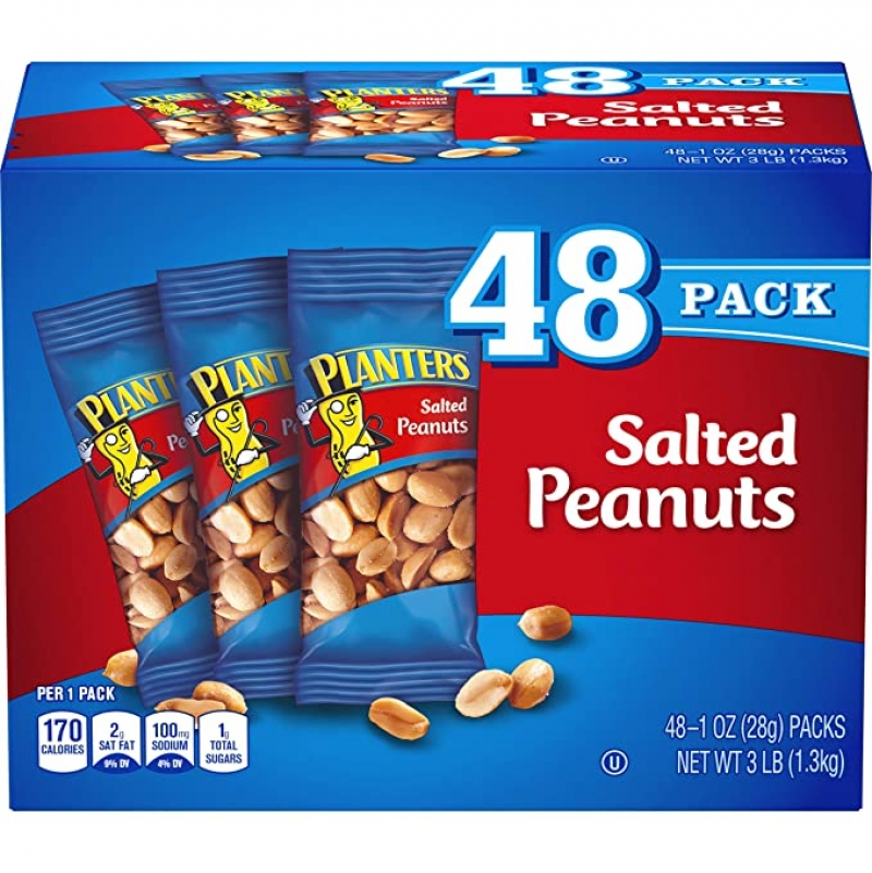 ihocon: PLANTERS Salted Peanuts, 1 Oz. Bags (48 Pack) 鹽焗花生