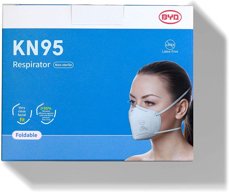ihocon: BYD 比亞迪 Disposable Protective Respirator with Head Straps, Box of 20 pcs 口罩