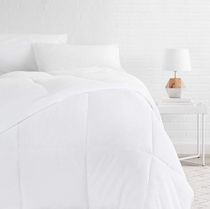 ihocon: AmazonBasics Down Alternative Bed Comforter, Full / Queen, White 被子