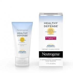 ihocon: Neutrogena Healthy Defense Daily Moisturizer with Broad Spectrum SPF 50 Sunscreen, Vitamin E & Anti-Oxidants, Lightweight, Non-Greasy & Hypoallergenic, 1.7 fl. oz 保濕霜