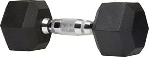 ihocon: AmazonBasics Rubber Encased Hex Hand Dumbbell Weight 25lb 啞鈴