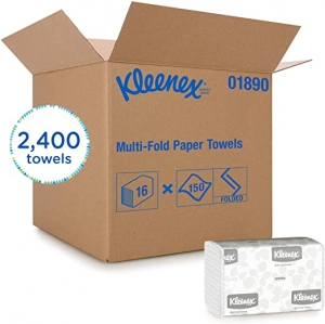ihocon: Kleenex Multifold Paper Towels (01890), White, 150 Tri Fold Paper Towels/Pack 紙巾