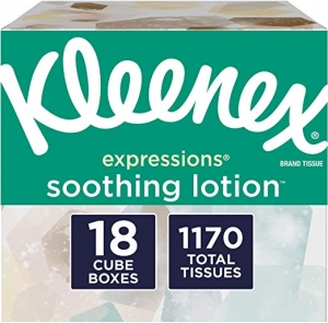 ihocon: Kleenex Expressions Soothing Lotion Facial Tissues, 18 Cube Boxes, 65 Tissues Per Box (1,170 Tissues Total)面紙