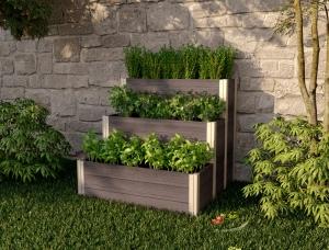 ihocon: URBANA 3x3 Tiered Composting Garden 三層堆肥種殖箱
