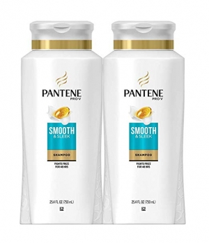 ihocon: Pantene Shampoo, with Argan Oil, Pro-V Smooth and Sleek Frizz Control, 25.4 fl oz, Twin Pack 摩洛哥堅果油洗髮精
