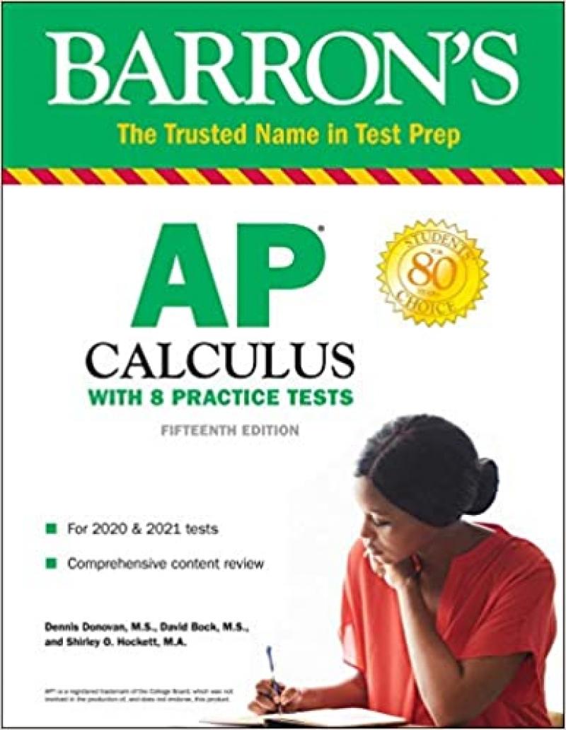 ihocon: [AP考試練習] Barron's Test Prep AP Calculus with 8 Practice Tests