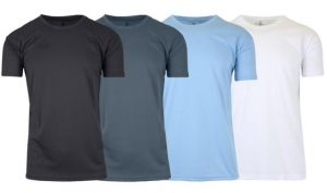 ihocon: Men's Moisture Wicking S/S Tee 4-PK 男士吸濕排汗短袖衫