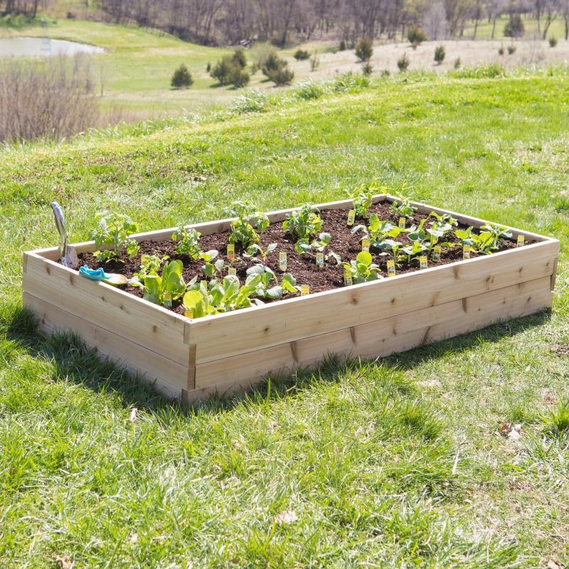 ihocon: Belham Living Cedar Raised Garden Bed 木製種植苗圃