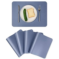 ihocon: ALLONWAY PU Faux Leather Placemats Set of 4, Waterproof  防水餐盤墊