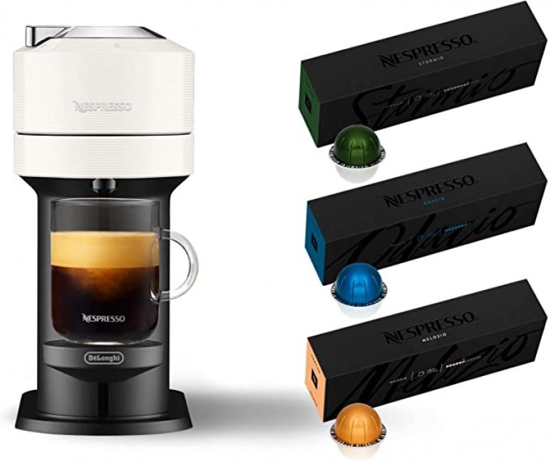 ihocon: Nespresso Vertuo Next Coffee and Espresso Machine by De'Longhi 義式膠囊咖啡機  + 30個咖啡膠囊