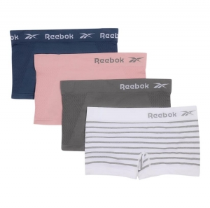 ihocon: Reebok Women's Seamless Boyshort Underwear 4-Pack 女士無縫平角內褲