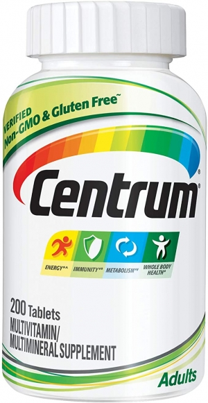 ihocon: Centrum Adult Multivitamin/Multimineral Supplement with Antioxidants, Zinc and B Vitamins - 200 Count 成人綜合維他命