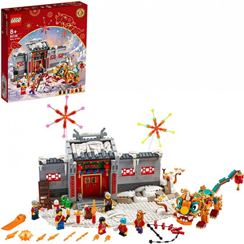 ihocon: [2021新款] LEGO Story of Nian 80106 Building Kit (1,067 Pieces)