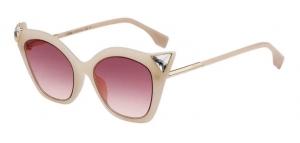 ihocon: Fendi Crystal-Trim FF-Print Cat-Eye Sunglasses 貓眼水晶太陽鏡