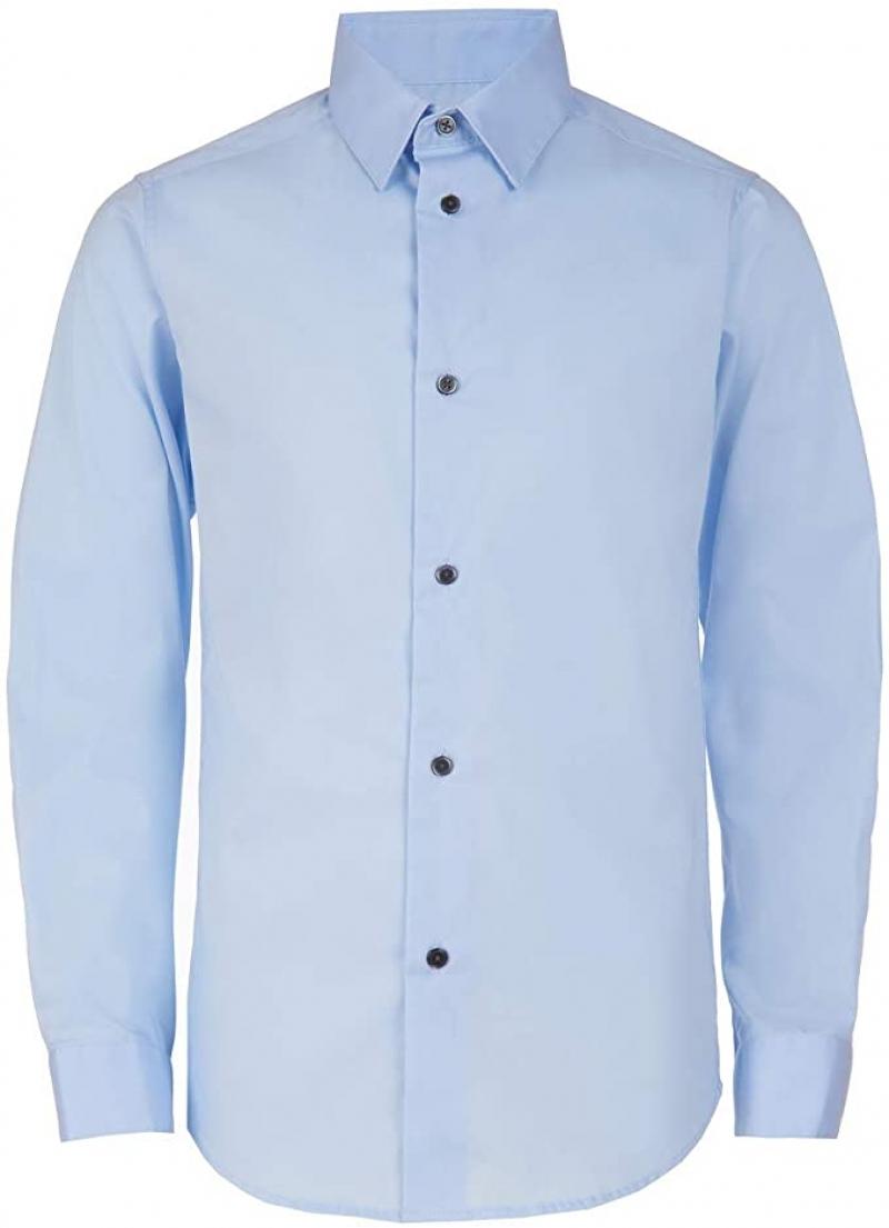 ihocon: Calvin Klein Boys' Slim Fit Button Down Dress Shirt 兒童襯衫