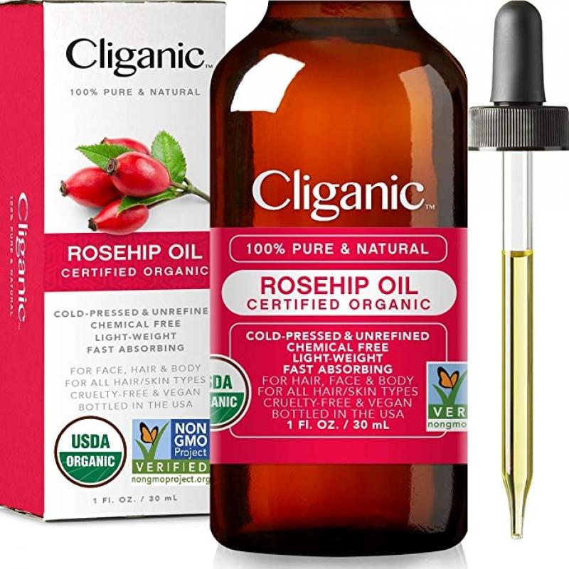 ihocon: Cliganic USDA Organic Rosehip Seed Oil for Face 有機冷壓玫瑰果籽臉部保養油