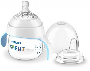 ihocon: Philips Avent My Natural Trainer Sippy Cup, Clear, 5oz, 1pk, SCF262/03 飛利浦   奶嘴/吸管杯