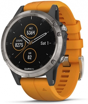 ihocon: Garmin fenix 5 Plus Premium Multisport GPS Smartwatch 心率監測智能錶