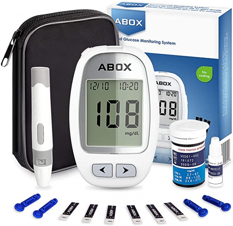 ihocon: ABOX Blood Glucose Monitoring Kit with 25 Test Strips 血糖測試儀及25張試紙