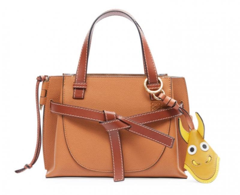 ihocon: Loewe Gate Mini Leather Top-Handle Tote Bag 皮包
