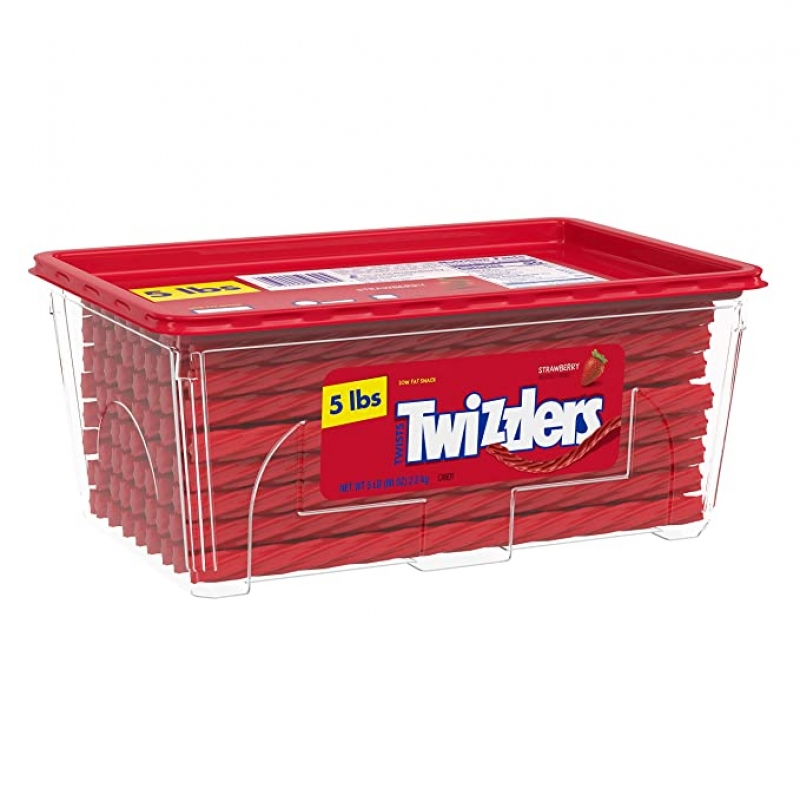 ihocon: TWIZZLERS Twists Strawberry Flavored Chewy Candy, 80 Oz.