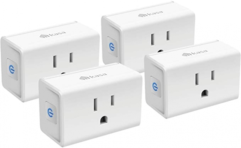 ihocon: [不在家也能遙控電器]Kasa Smart Plug Mini 15A, Smart Home Wi-Fi Outlet Works with Alexa, Google Home & IFTTT 智能插座 4個