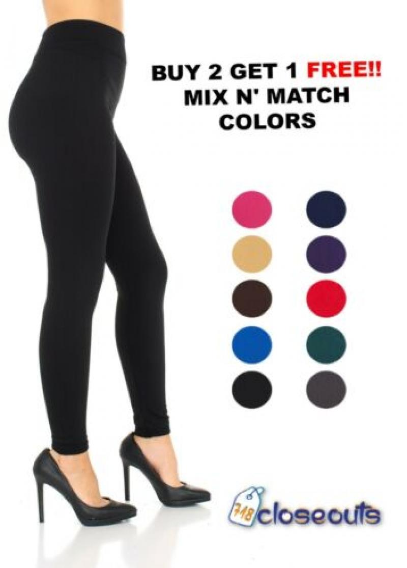 [好便宜] 女士Fleece內襯保暖Leggings-多色可選 $6.95免運, 買2送1, 3條才$13.9, 算起來一條是$4.6