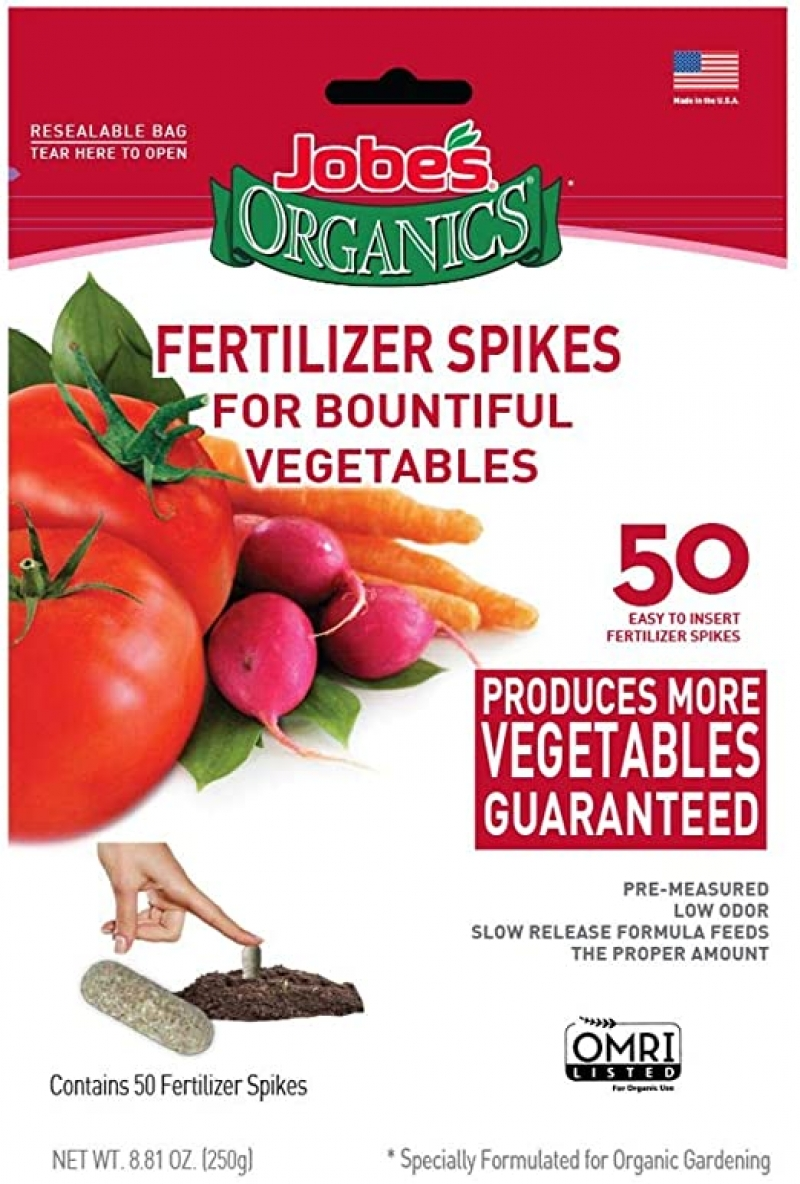 ihocon: Jobe's Organics Vegetable & Tomato Fertilizer Spikes, 50 Spikes 蔬菜番茄肥料釘