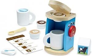 ihocon: Melissa & Doug Brew & Serve Wooden Coffee Maker Set (12 Pieces)木製玩具咖啡機