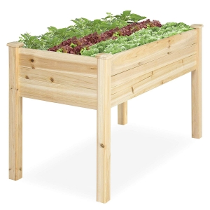 ihocon: Best Choice Products 46x22x30in Raised Wood Planter Garden Bed