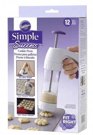 ihocon: Wilton Simple Success Cookie Press, 13-Piece 擠餅乾器