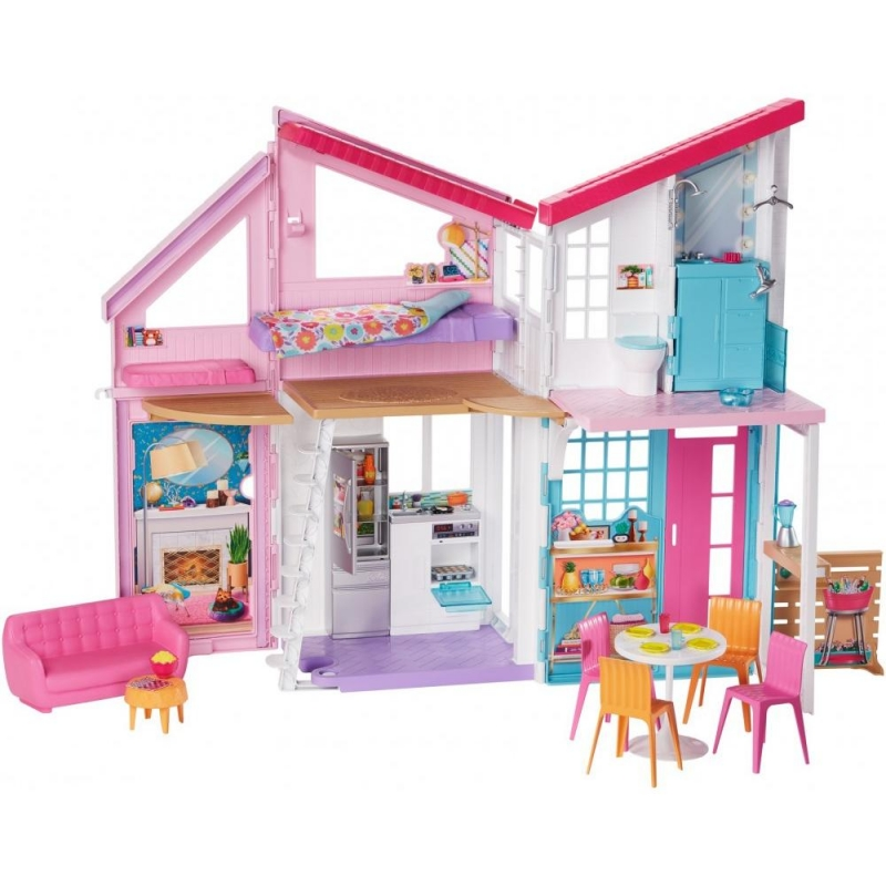 ihocon: Barbie Barbie Estate Malibu House Playset with 25+ Themed Accessories 芭比娃娃   玩具屋