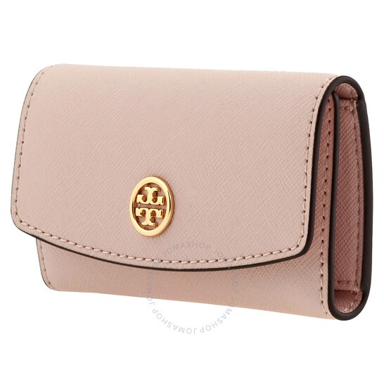 ihocon: Tory Burch Pink Robinson Foldable Key Case 鑰匙包