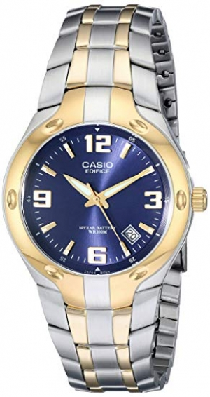ihocon: Casio Men's EF106SG-2AV Edifice Two-Tone Stainless Steel Watch 卡西歐男錶