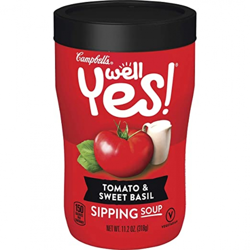 ihocon: Campbell's Tomato & Sweet Basil Sipping Soup, 8 / Carton 番茄羅勒湯