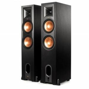 ihocon: Klipsch R-28PF Powered Floorstanding Speakers, 520W Peak Power, Black, Pair