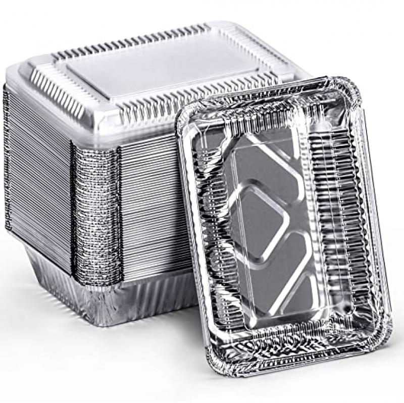 ihocon: DecorRack 2 1/4 Lb. Aluminum Pan with Dome Lid (Pack of 14) 含蓋錫紙盒