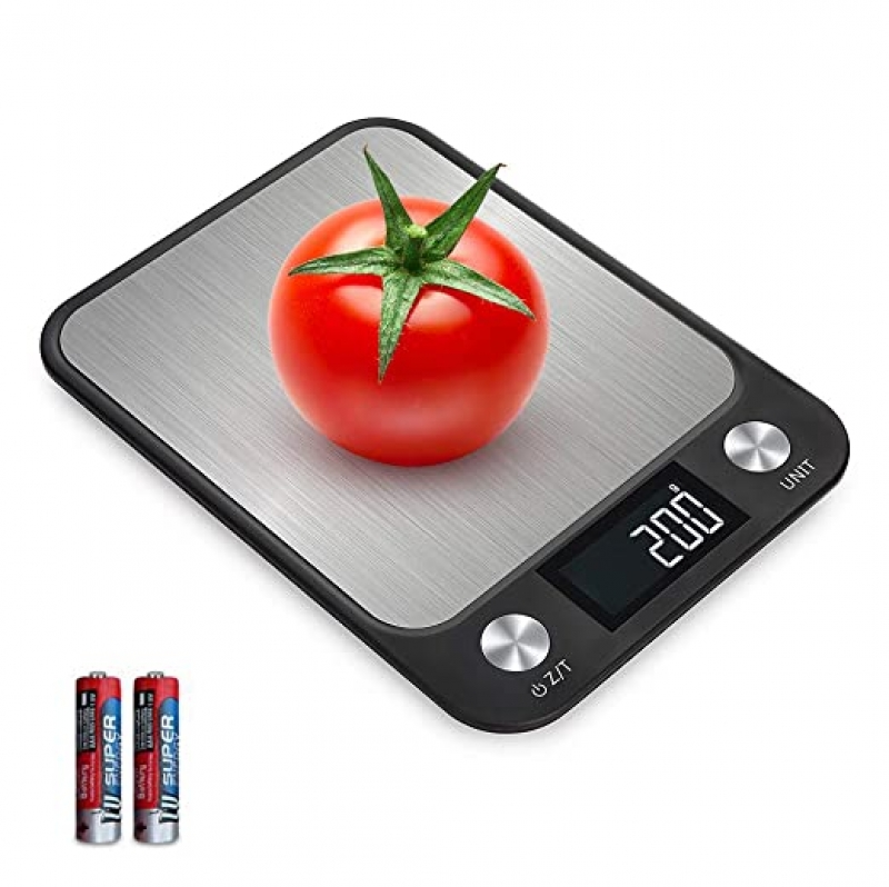 ihocon: CANAVIS Digital Kitchen Food Scale, 1g/0.1oz Increment High Precision, Max 22lbs/10kg 廚用電子秤