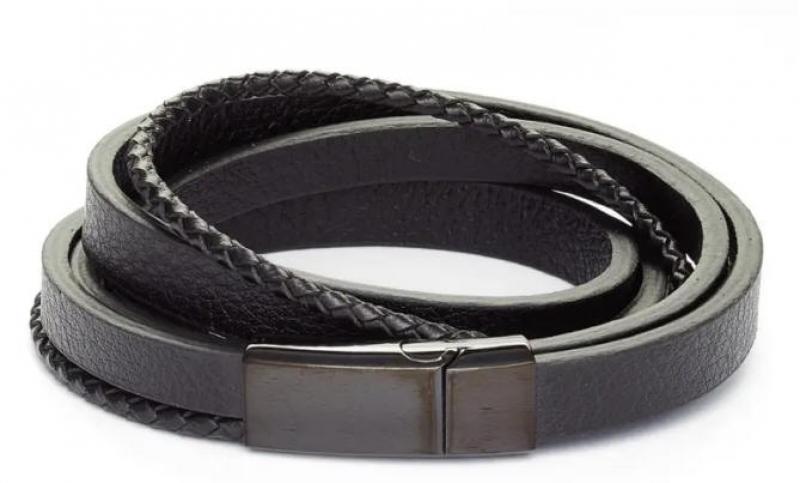ihocon: NORDSTROM Men's Leather Wrap Bracelet 男士手鍊