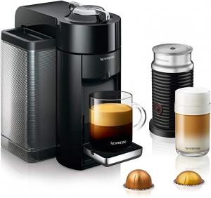 ihocon: Nespresso by De'Longhi ENV135BAE Coffee and Espresso Machine Bundle with Aeroccino Milk Frother義式膠囊咖啡機