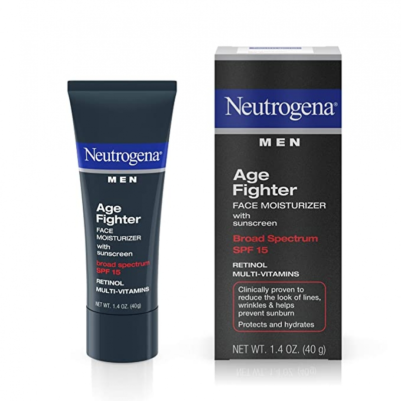 ihocon: Neutrogena Age Fighter Anti-Wrinkle Retinol Moisturizer for Men, SPF 15, 1.4 oz 露得清男士抗皺保濕霜