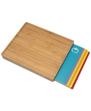 ihocon: Lipper International Cutting Board with 6 Cutting Mats 竹製菜板含6個切菜墊