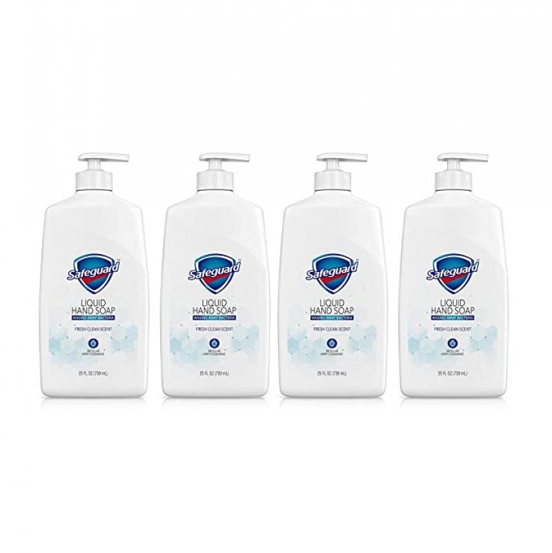 ihocon: Safeguard Liquid Hand Soap, 25 Oz (Pack of 4)洗手液皂
