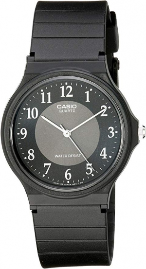 ihocon: Casio Men's MQ24-1B3 Watch with Black Rubber Band 卡西歐男錶