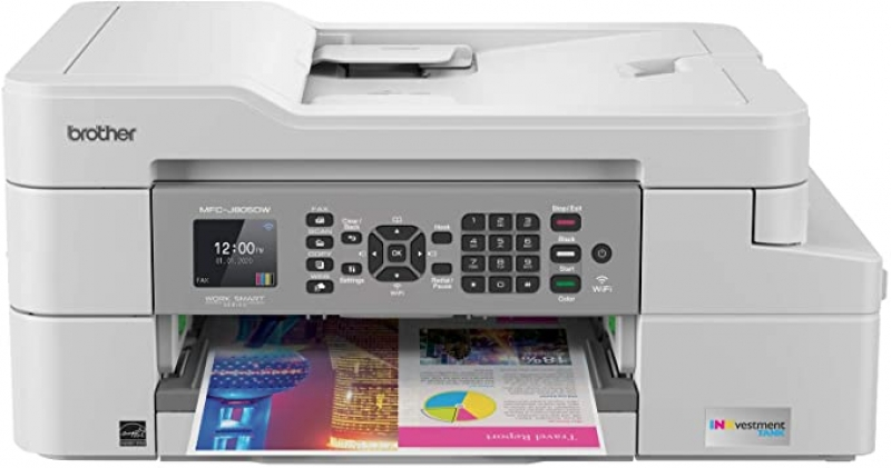 ihocon: Brother MFC-J805DW INKvestmentTank Color Inkjet All-in-One Printer with Mobile Device and Duplex Printing with Up To 1-Year of Ink In-box彩色噴墨多合一印表機